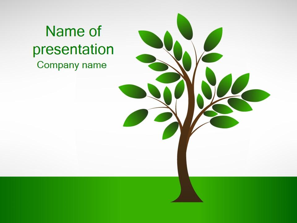 Скачать шаблон презентации деревья