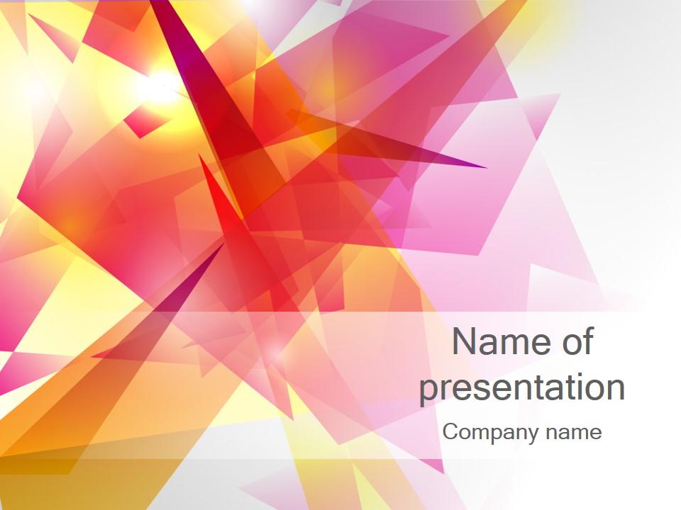 Шаблон презентации PowerPoint Красочные геометрические фигуры